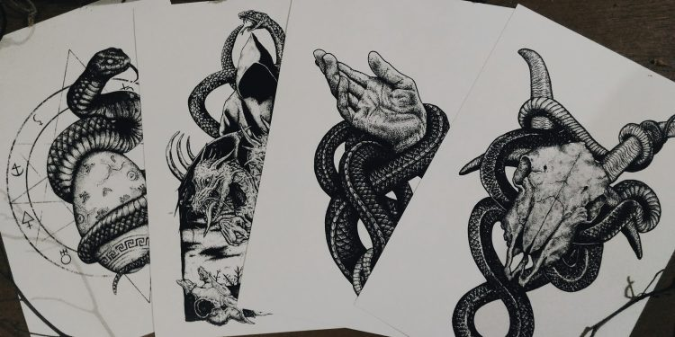 Effigy of Serpents Mini Print Set