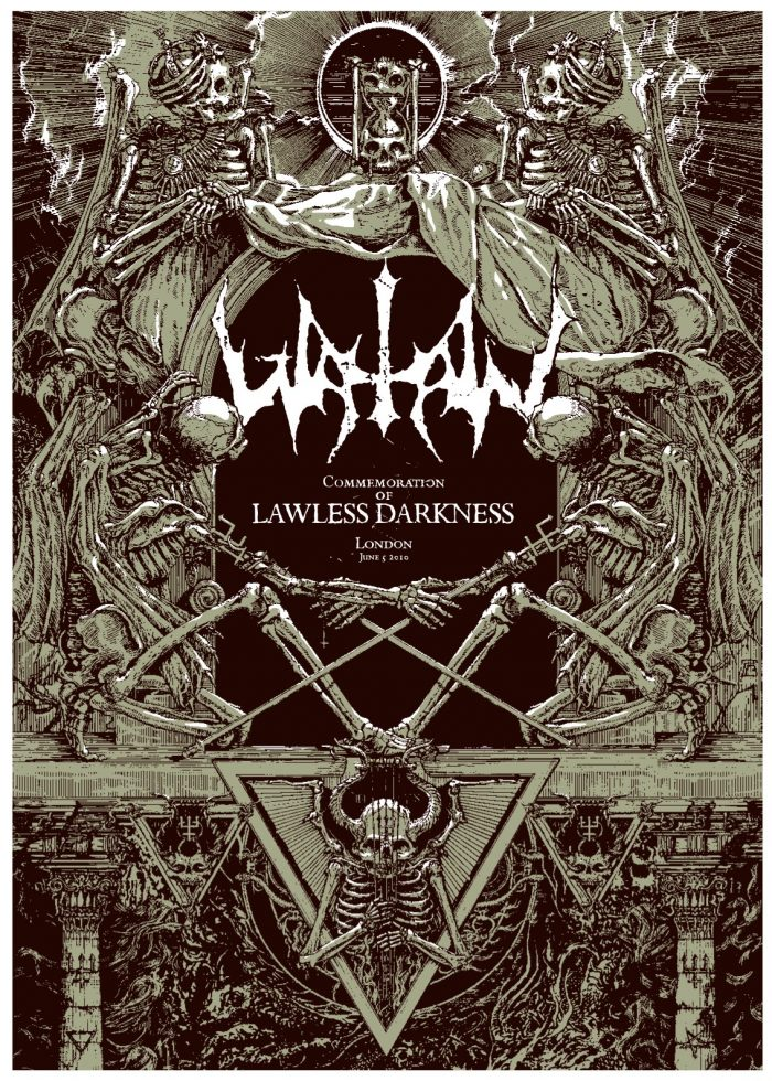 Watain poster, printed with human blood